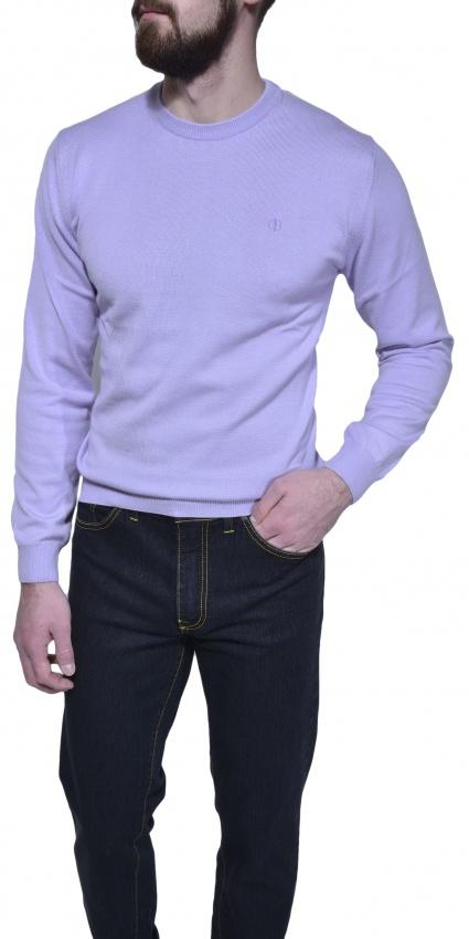 Bledo fialový bavlnený pulóver