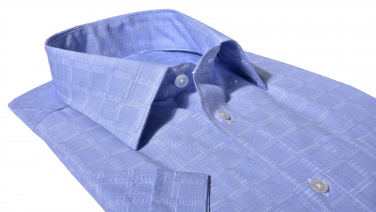 Blue Classic Fit short sleeved shirt