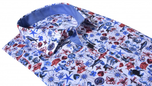 Casual printed Slim Fit shirt