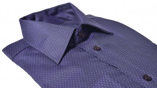 Tmavo fialová vzorovaná Extra Slim Fit košeľa