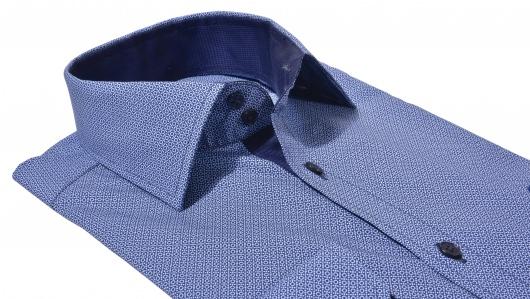 Modrá Extra Slim Fit košeľa s printom