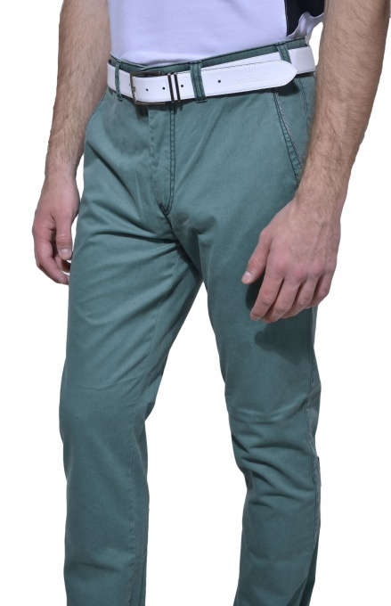Zelené chinos nohavice