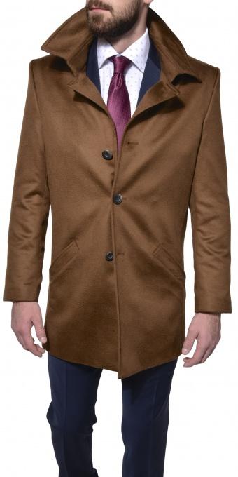 LIMITED EDITION Škoricový kašmírový kabát