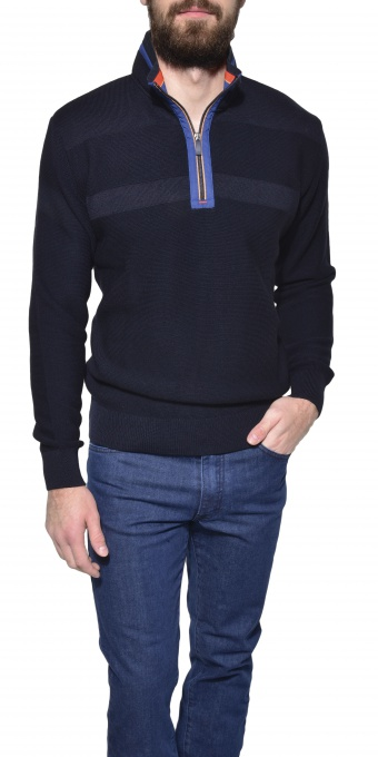 Dark blue casual pullover