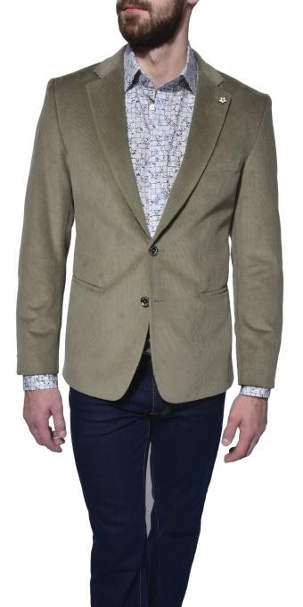 Šedo - zelené manchestrové sako