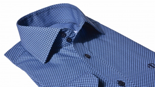 Dark blue Extra Slim Fit printed shirt