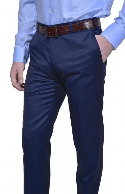 LIMITED EDITION modré vlnené nohavice