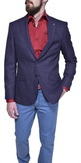 Fialové voľnočasové sako