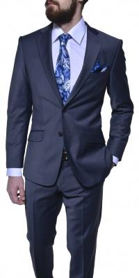Šedo-modrý Slim Fit oblek