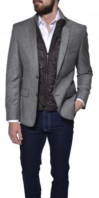 Grey autumn wool blazer