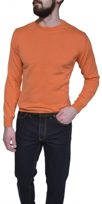 Orange cotton crewneck
