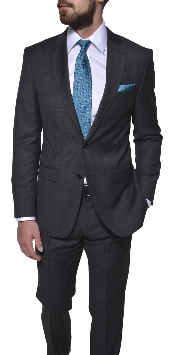 LIMITED EDITION šedý vlnený oblek