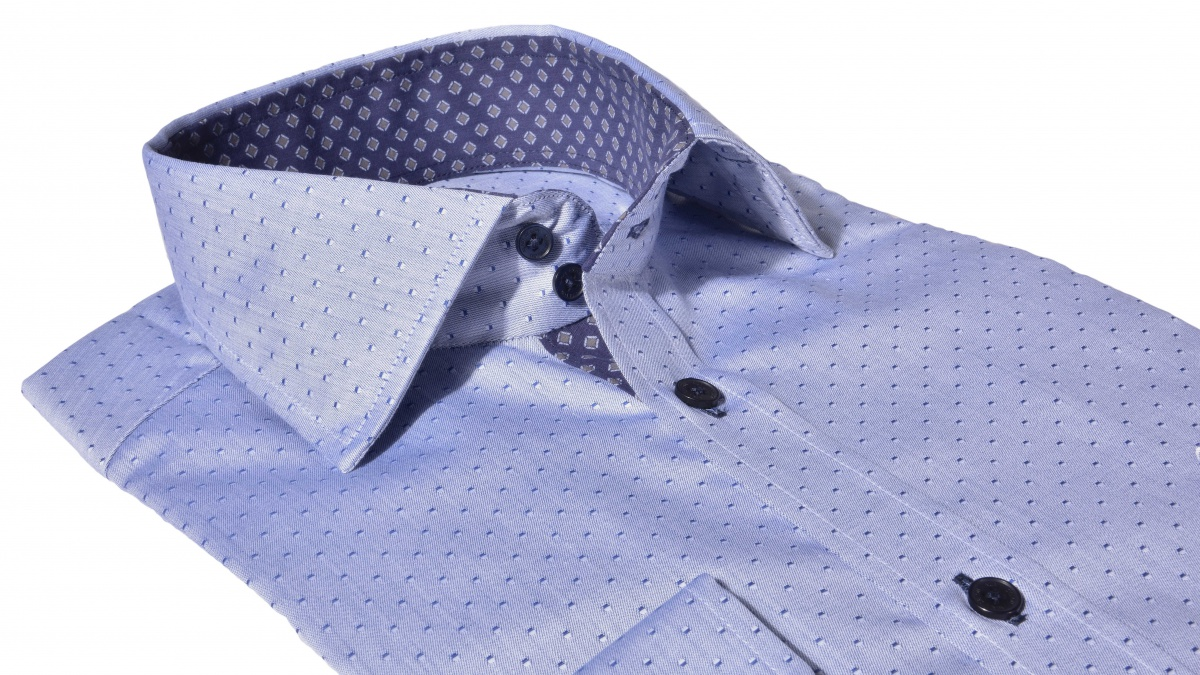 Grey - blue Extra Slim Fit shirt