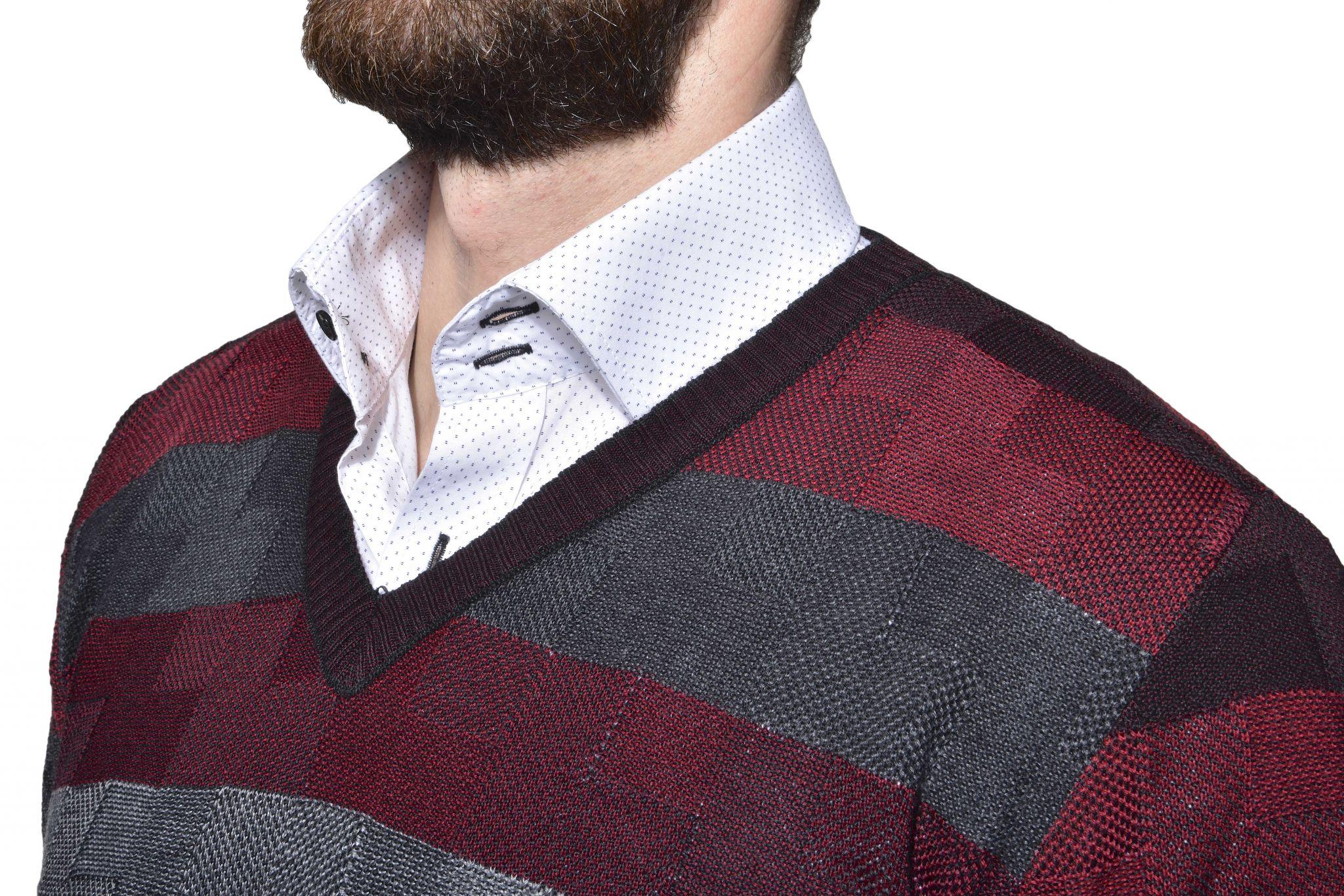 Károvaný vlnený pulóver - Pulovry a svetry - E-shop  9414d3bb600