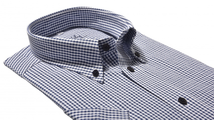 Checkered Classic Fit short sleeved shirt