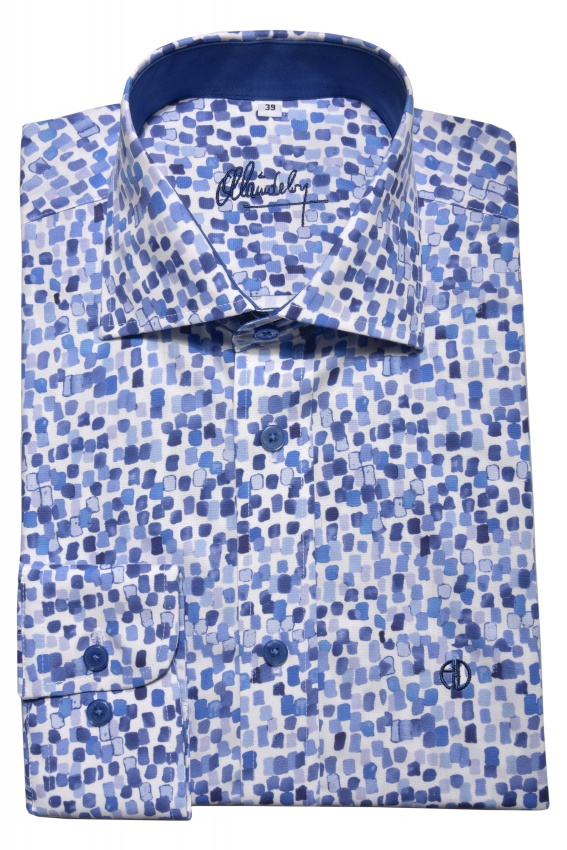 Blue Classic Fit casual shirt