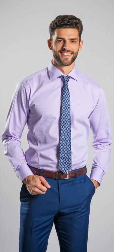LIMITED EDITION fialová Extra Slim Fit košeľa
