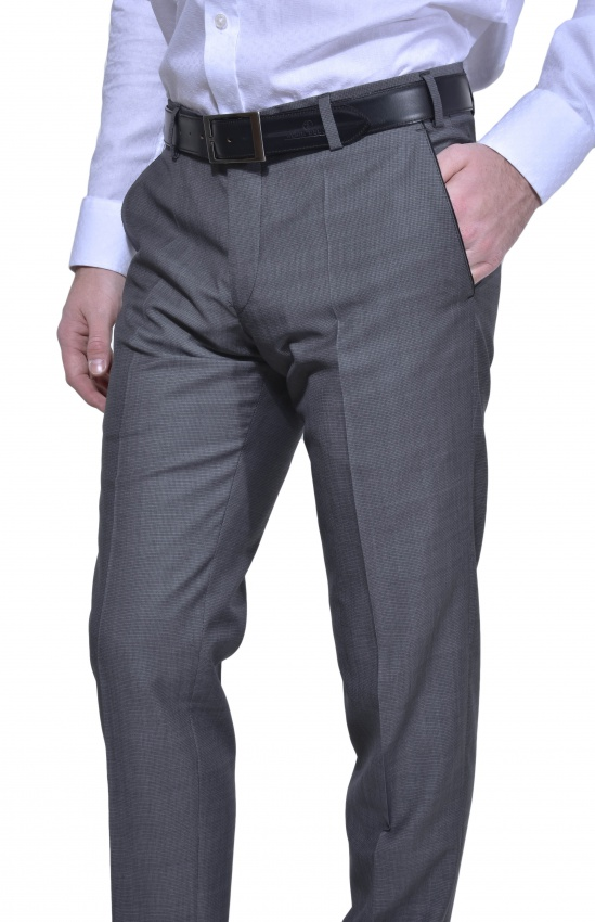 LIMITED EDITION šedé vlnené nohavice