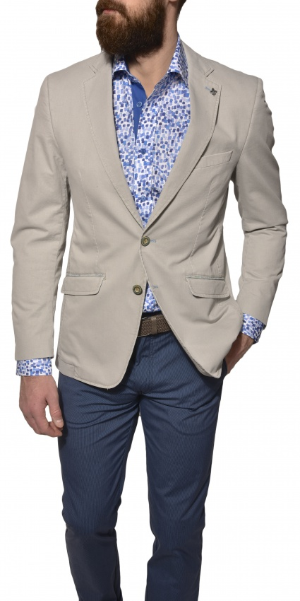 Šedé bavlnené sako