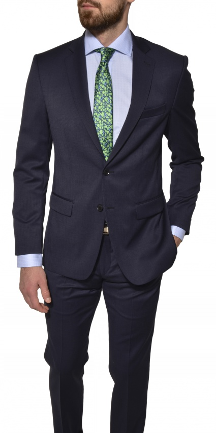 Dark Blue Basic Suit jacket