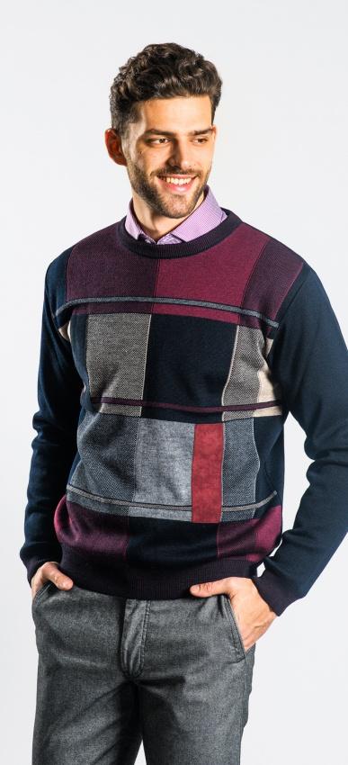 Vzorovaný pulóver