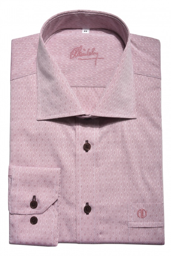 Ružová Classic Fit košeľa