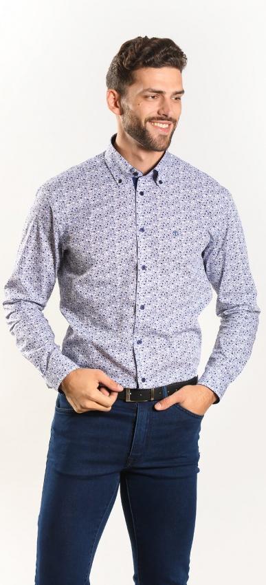 Výrazná modrá Extra Slim Fit košeľa