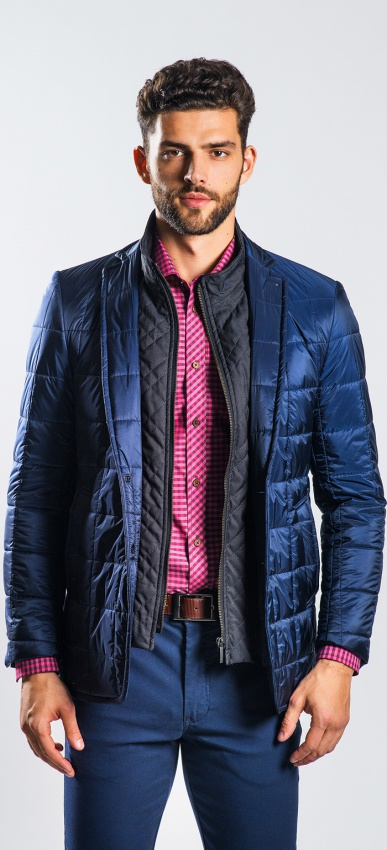 Dark blue padded blazer