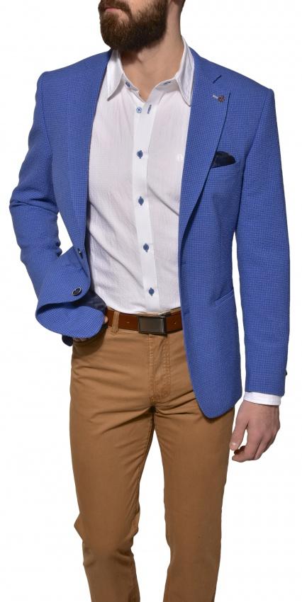 Modré krepové sako