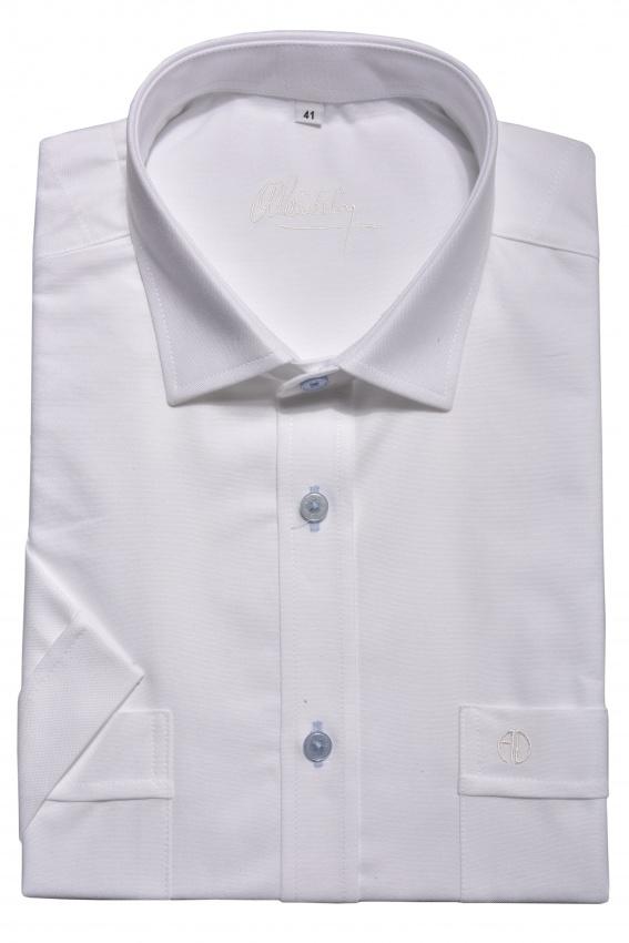 White casual short sleeved shirt