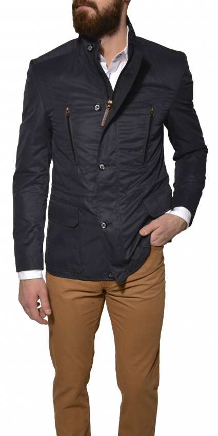 Tmavomodrá jarná bunda
