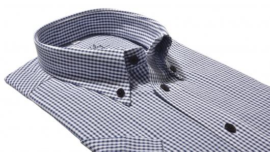 Károvaná Classic Fit košeľa s krátkym rukávom