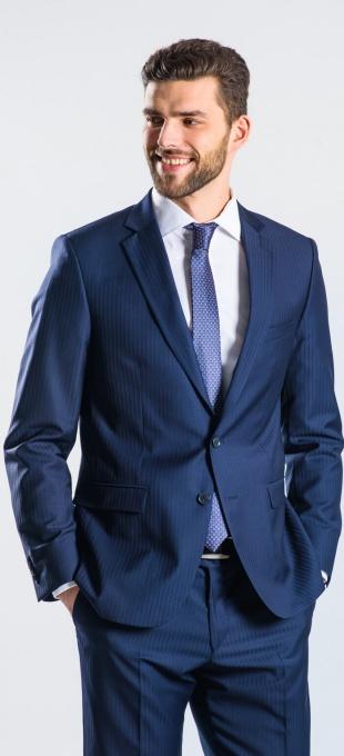 LIMITED EDITION Tmavomodrý vlnený oblek