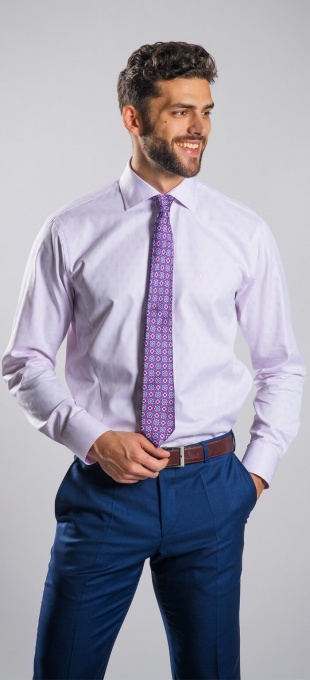 Pink Classic Fit business shirt
