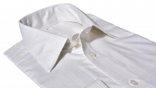 Ivory károvaná Slim Fit košeľa