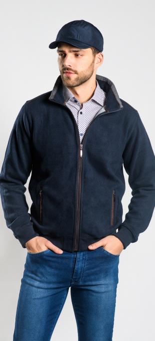 Tmavomodrý bavlnený sveter