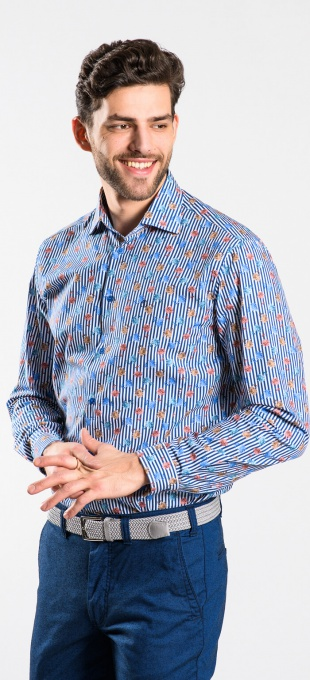 Flower patterned Extra Slim Fit shirt