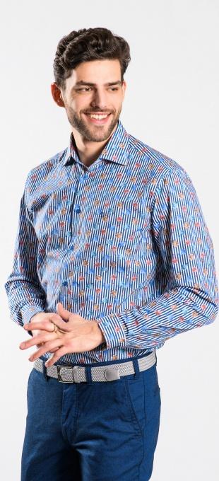 Jarná kvetinová Extra Slim Fit košeľa