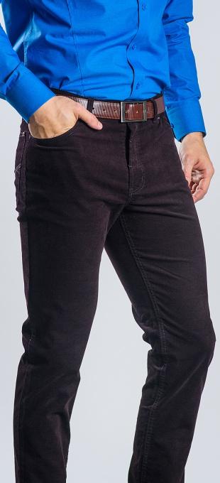 Hnedé Basic päťvreckové nohavice