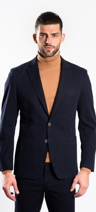 Dark blue cotton blazer