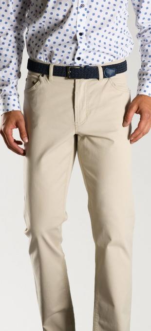 Khaki five pocket cotton trousers - Basic line