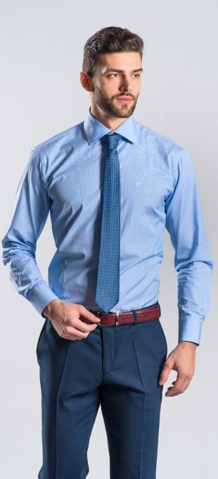 Blue Extra Slim Fit business shirt