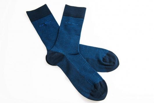 Set 3 párov tmavomodrých ponožiek
