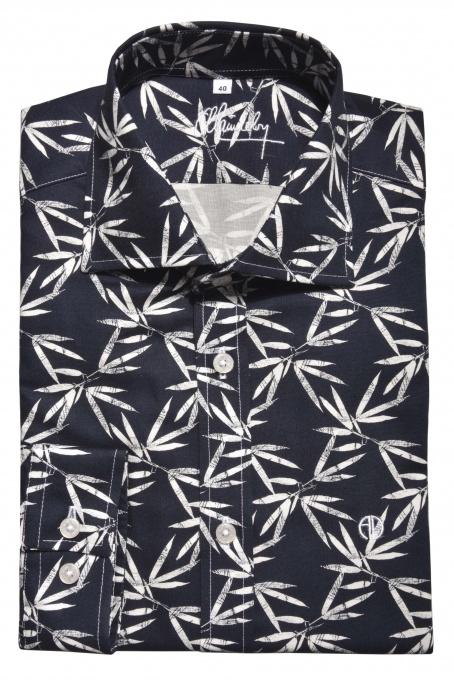 Dark blue bold Extra Slim Fit shirt