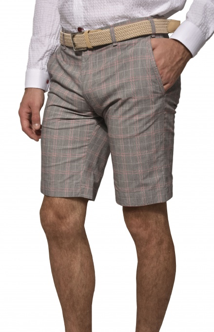 Kárované krátke nohavice