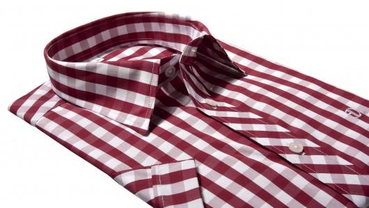 d5a7dd9d5dc8 Červená károvaná Slim Fit košeľa s krátkym rukávom