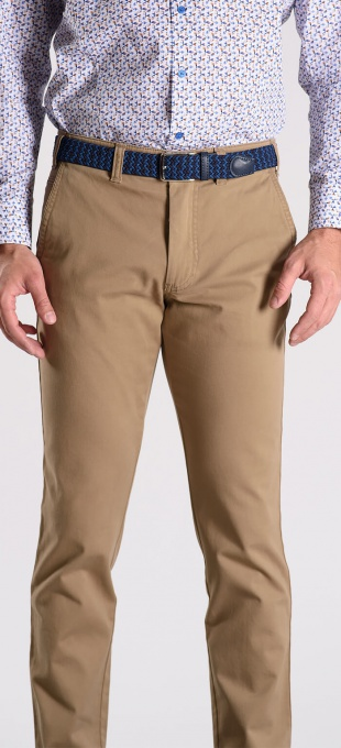 Brown cotton chinos