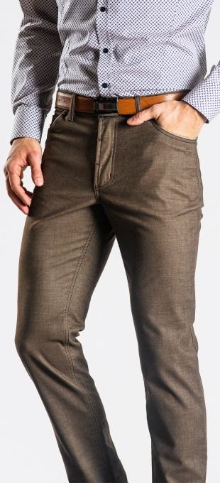 Brown five pocket trousers