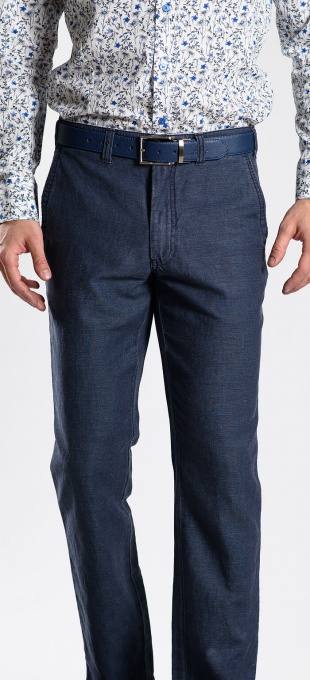 Grey-blue linen trousers
