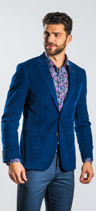 Dark blue cotton Basic blazer